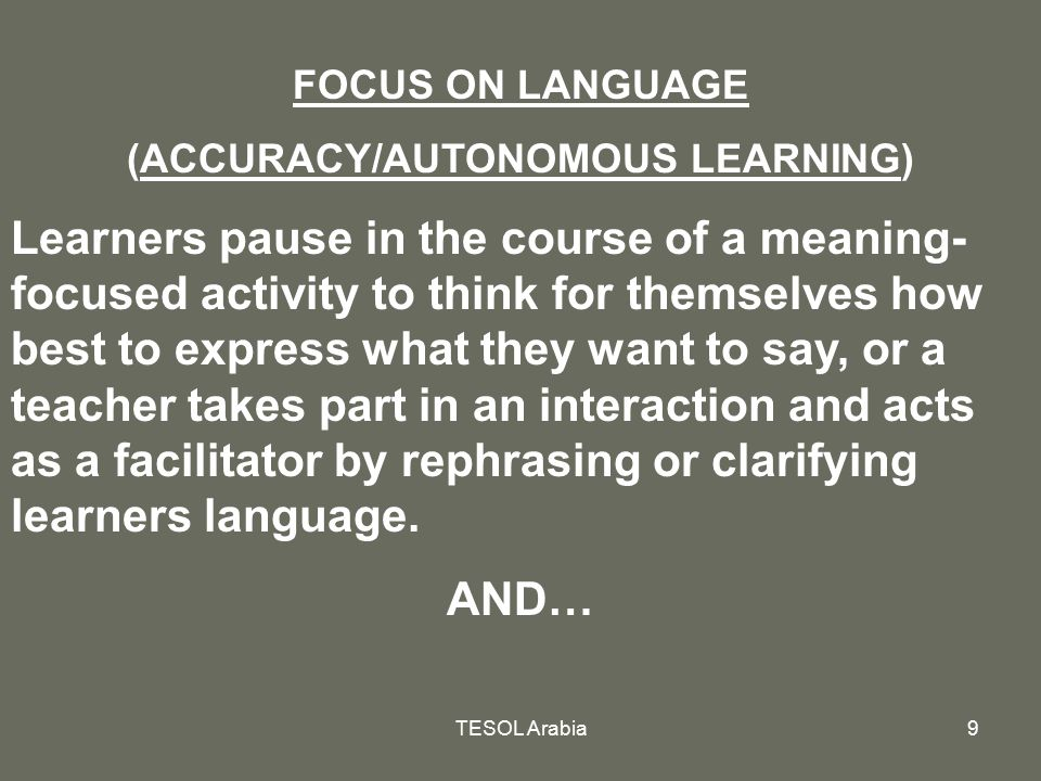 (ACCURACY/AUTONOMOUS LEARNING)