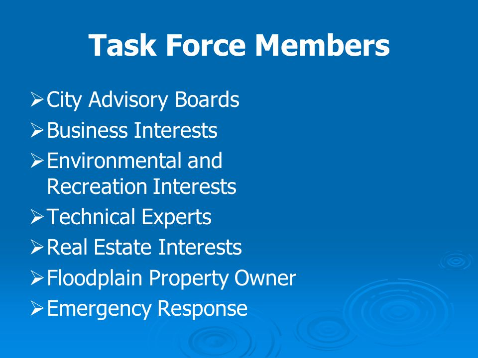Task Force Members City Advisory Boards Business Interests