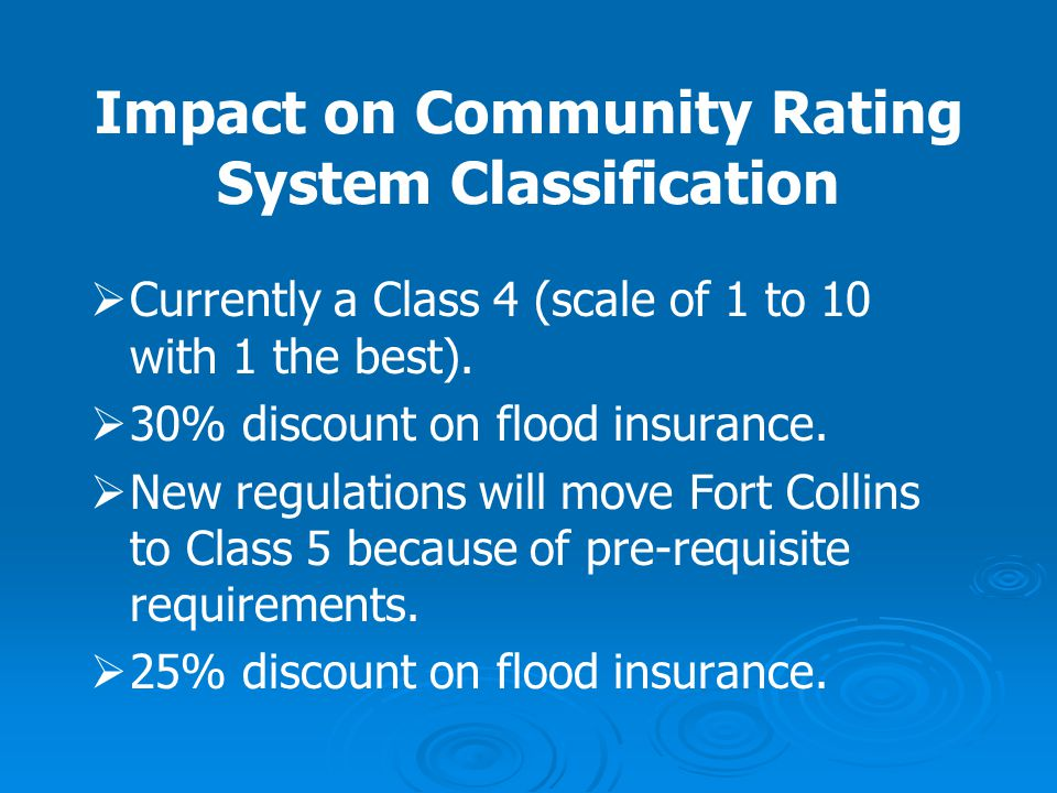 Impact on Community Rating System Classification