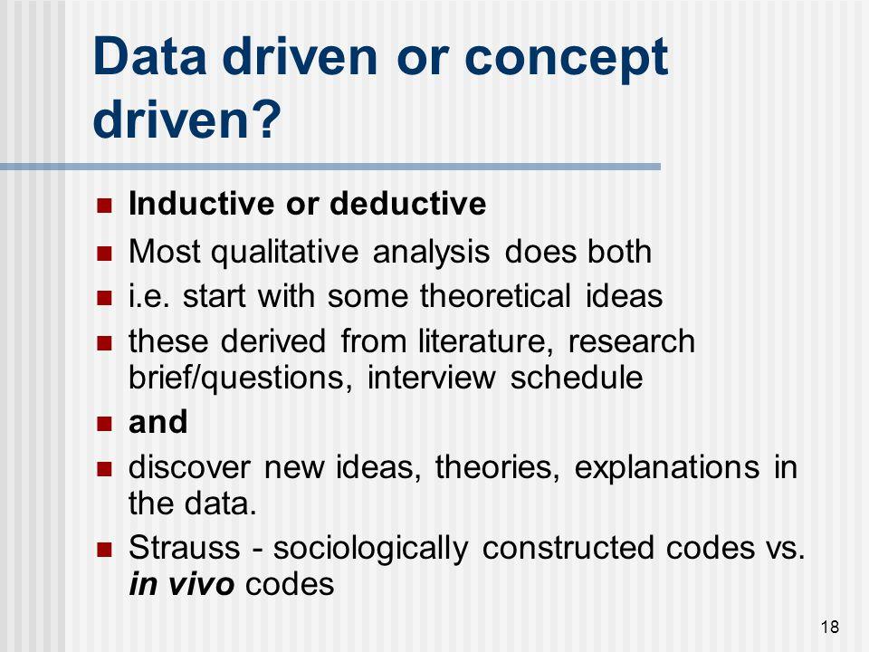 Data driven or concept driven