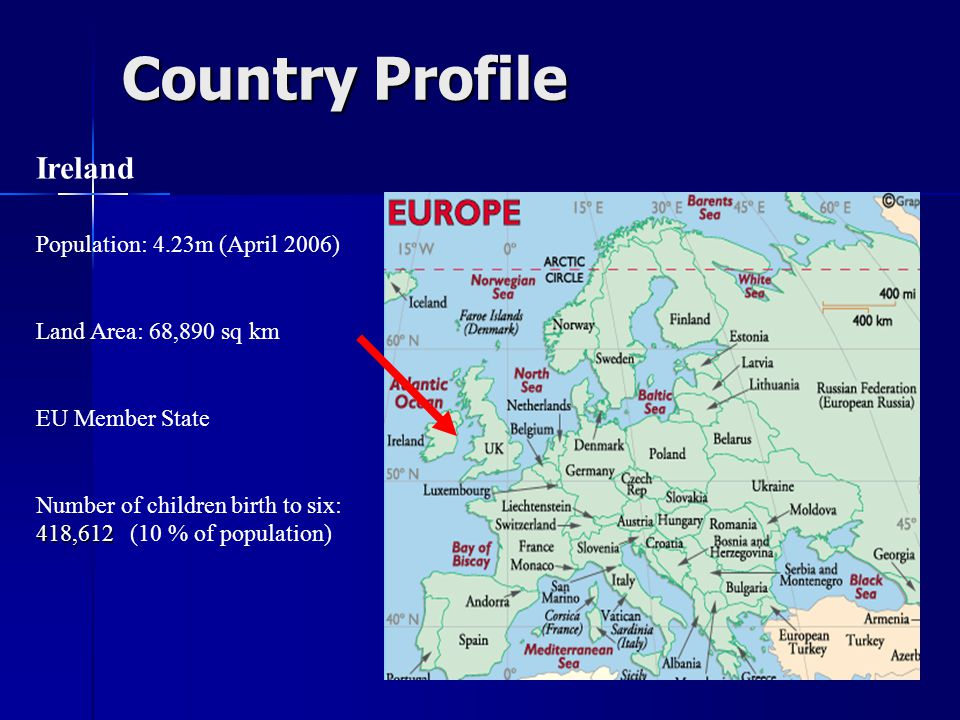 Country Profile Ireland Population: 4.23m (April 2006)