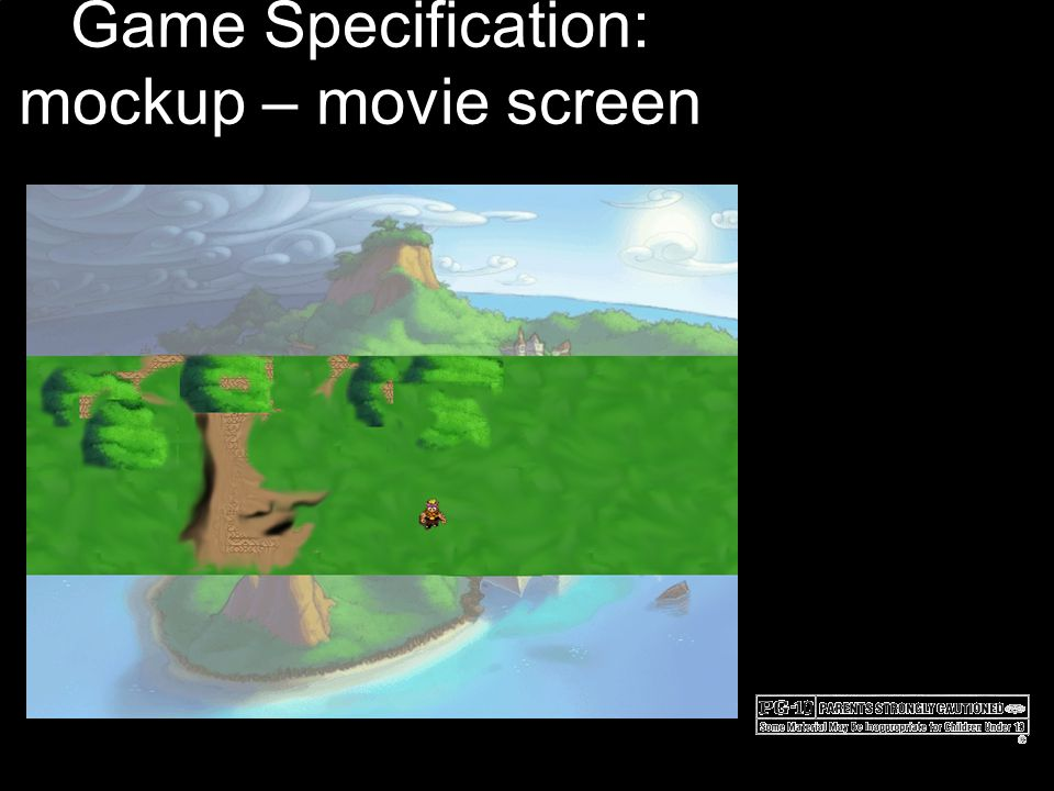 Game Specification: mockup – movie screen