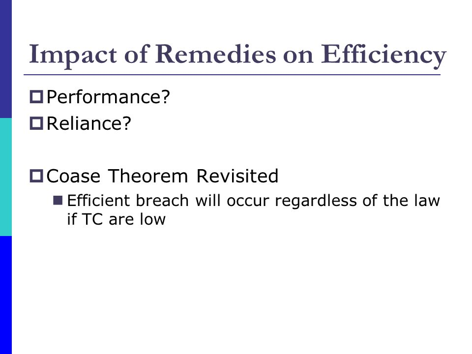 Impact of Remedies on Efficiency