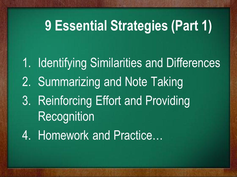 9 Essential Strategies (Part 1)