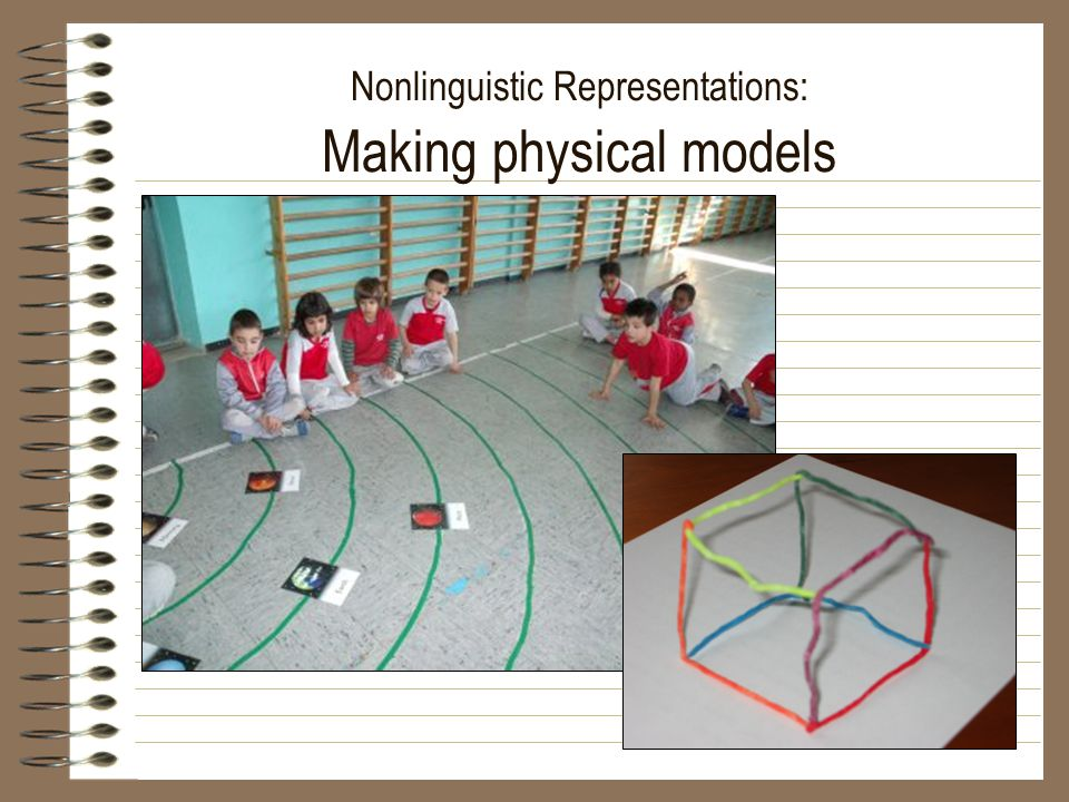 Nonlinguistic Representations: Making physical models