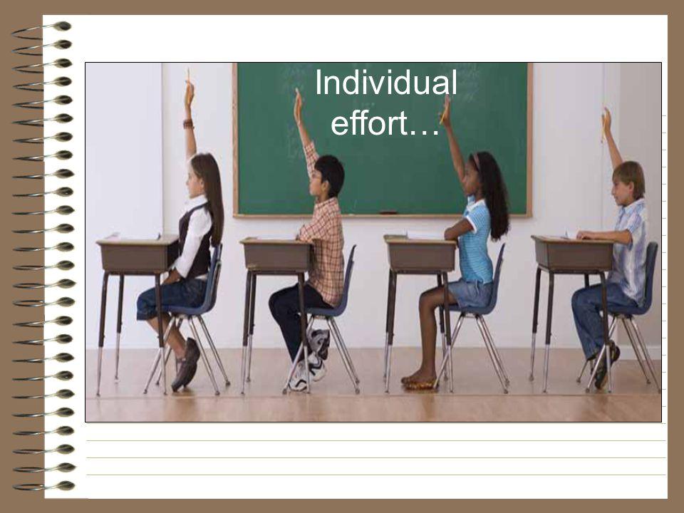 Individual effort… 56%