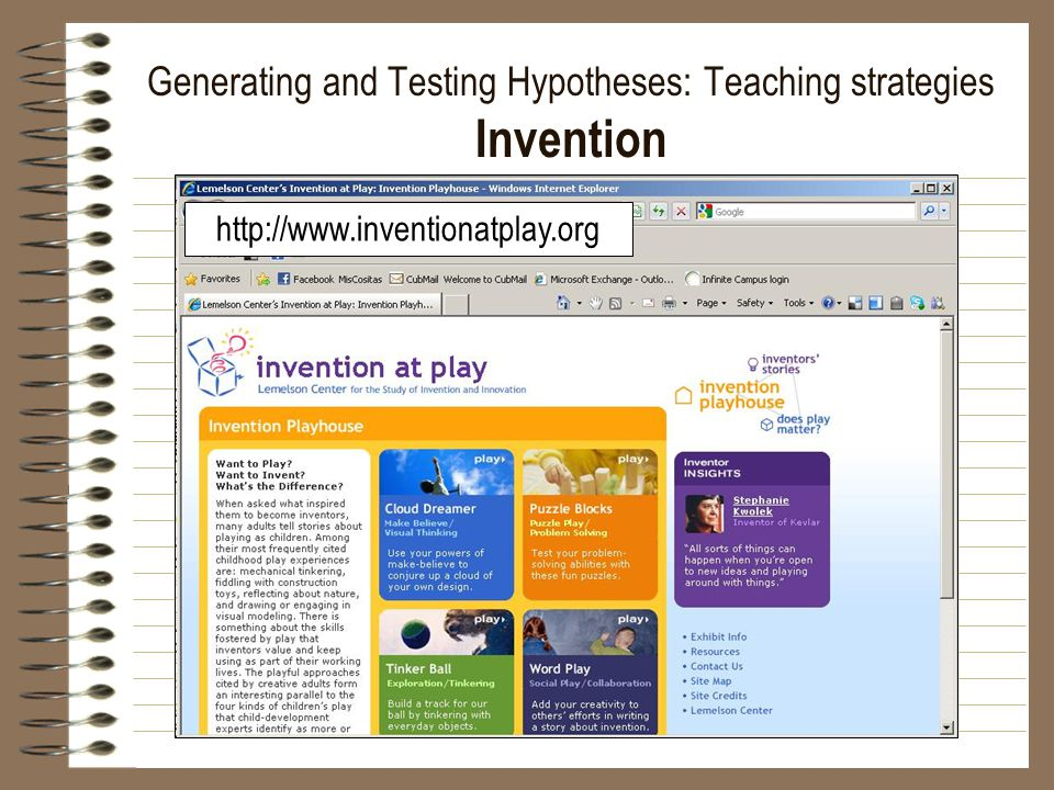 Generating and Testing Hypotheses: Teaching strategies Invention