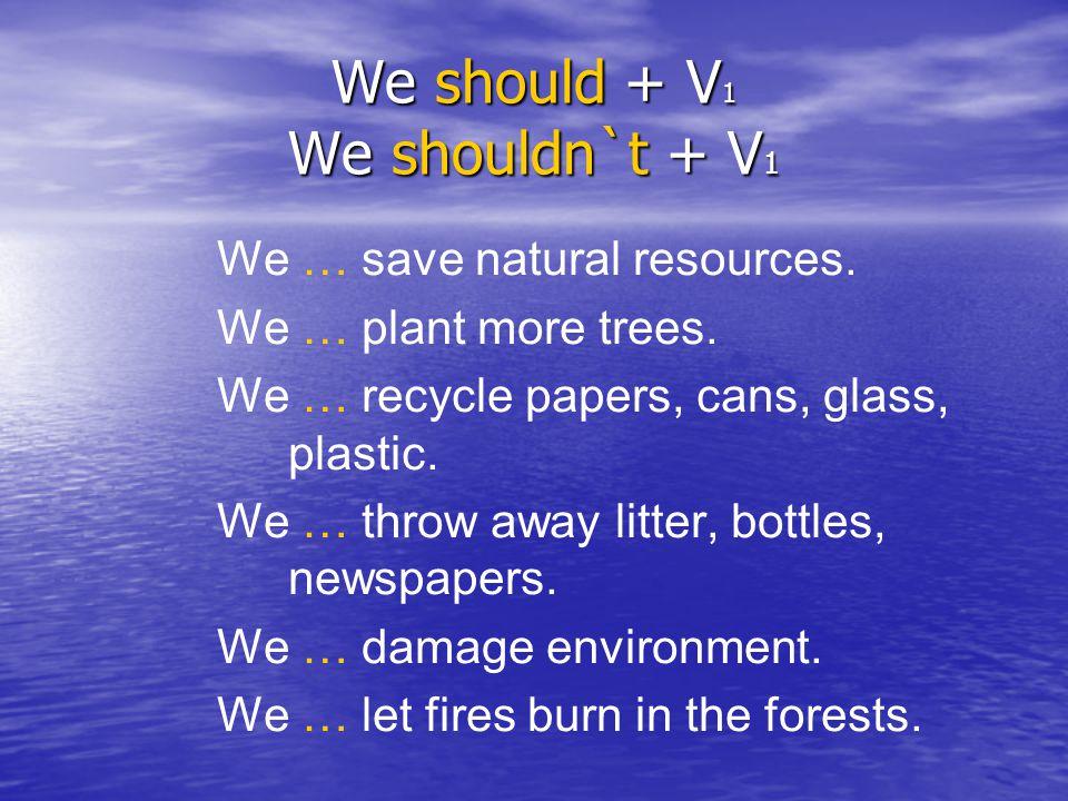 We should + V1 We shouldn`t + V1