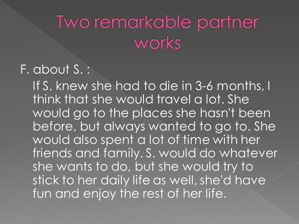 Two remarkable partner works