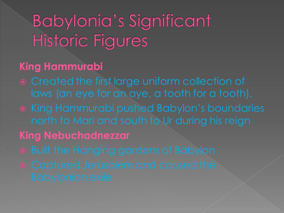 Babylonia's Significant Historic Figures
