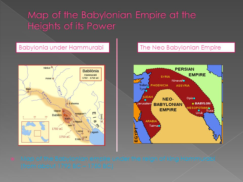 Map of the Babylonian Empire at the Heights of its Power