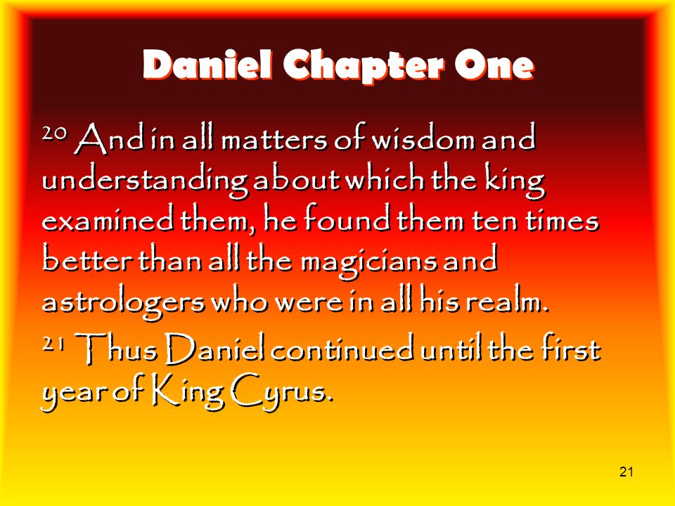 Daniel Chapter One