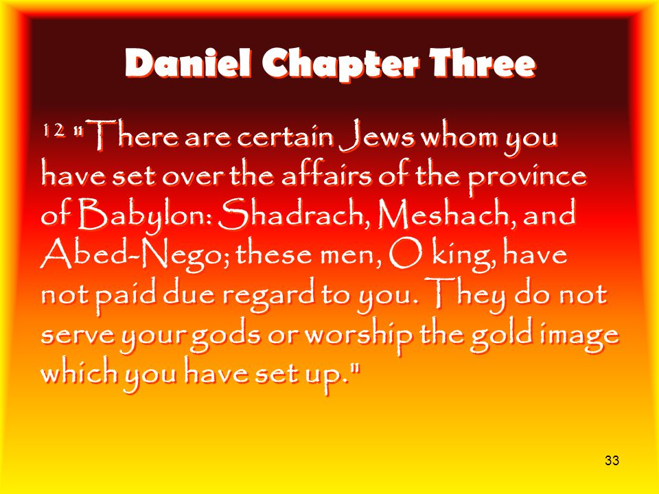 Daniel Chapter Three