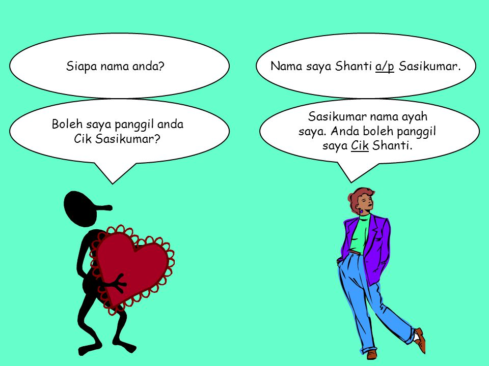 Nama saya Shanti a/p Sasikumar.