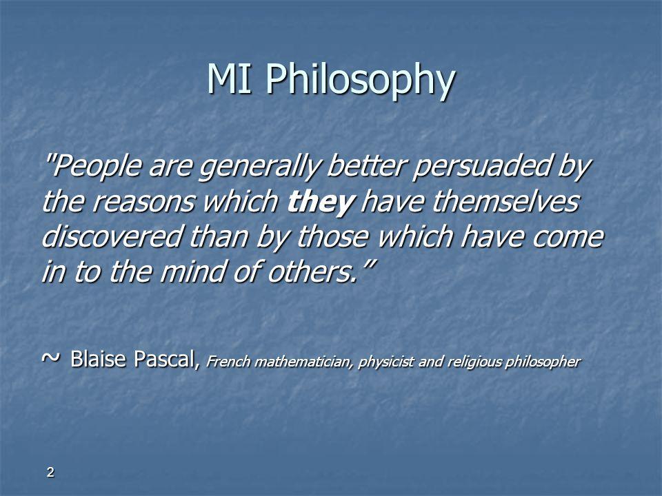 MI Philosophy