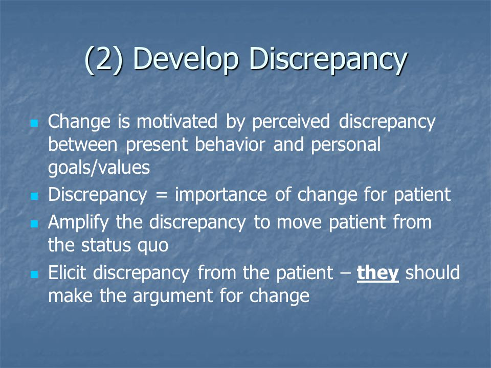 (2) Develop Discrepancy