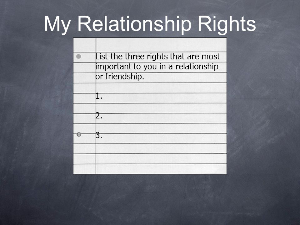 My Relationship Rights
