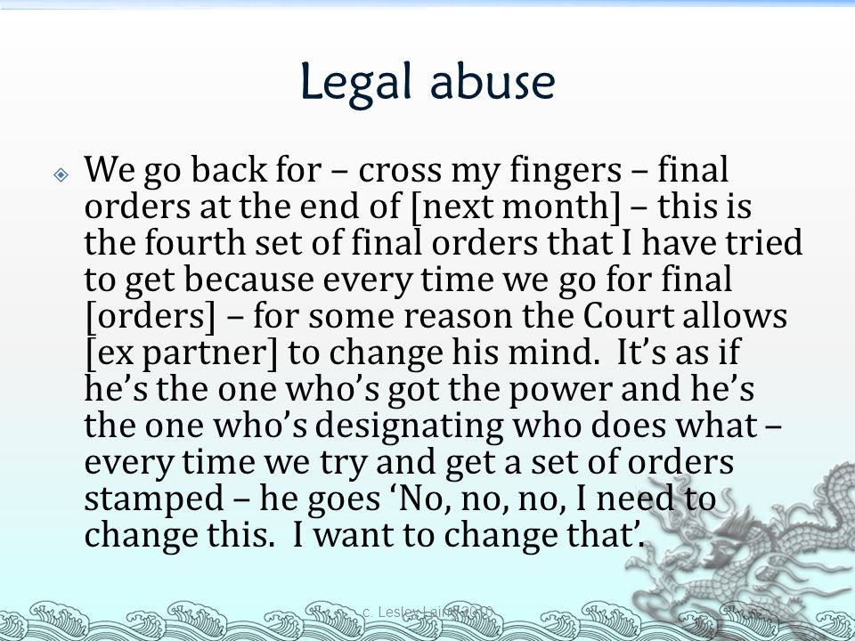 Legal abuse