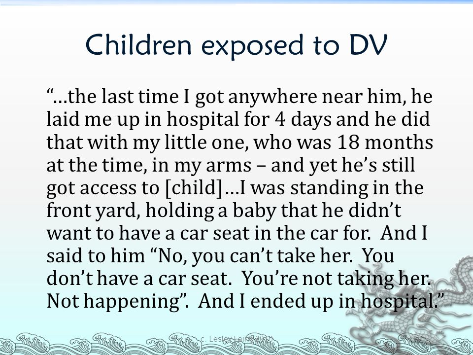 Children exposed to DV