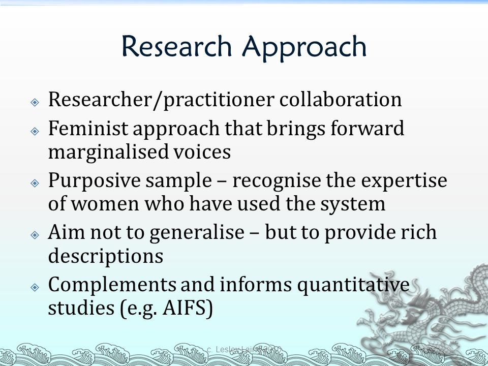 Research Approach Researcher/practitioner collaboration