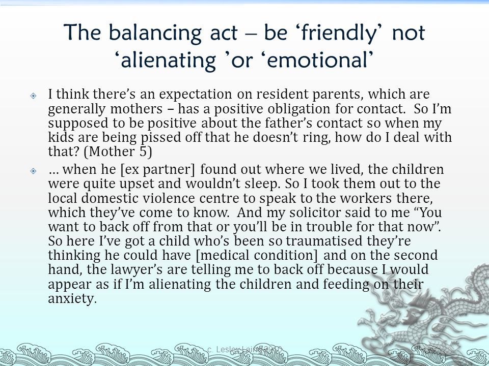 The balancing act – be 'friendly' not 'alienating 'or 'emotional'
