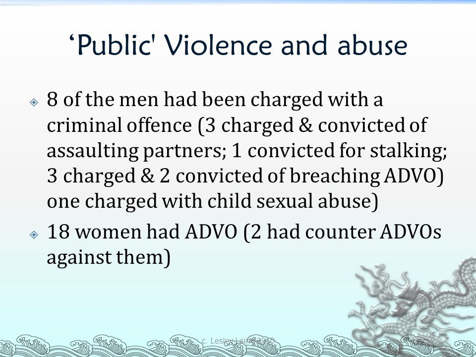 'Public Violence and abuse