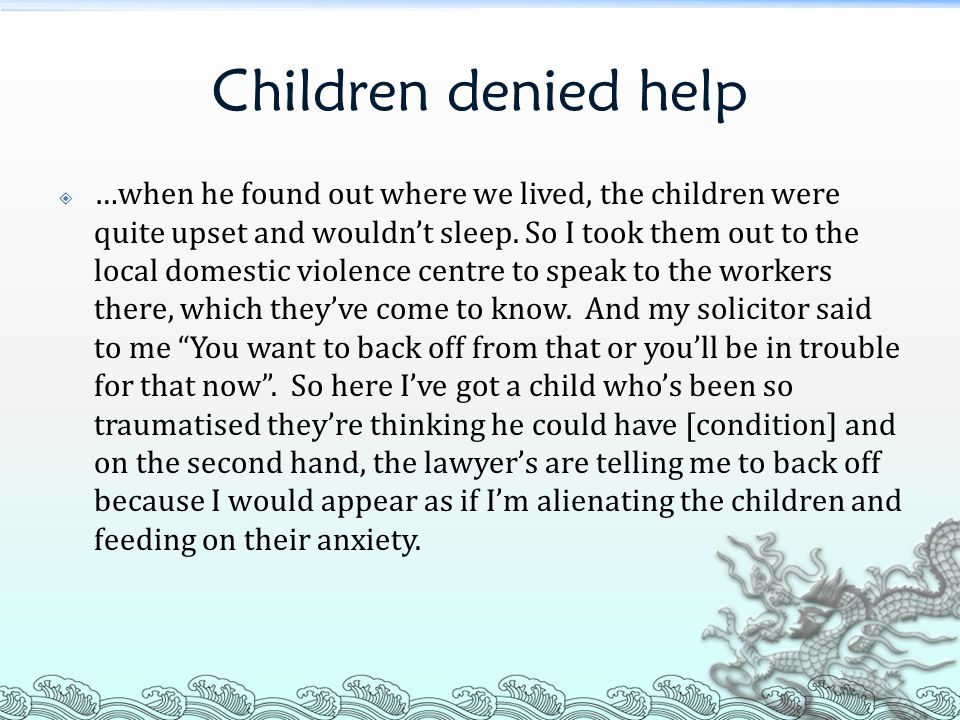 Children denied help