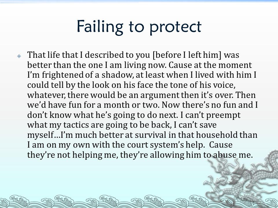 Failing to protect