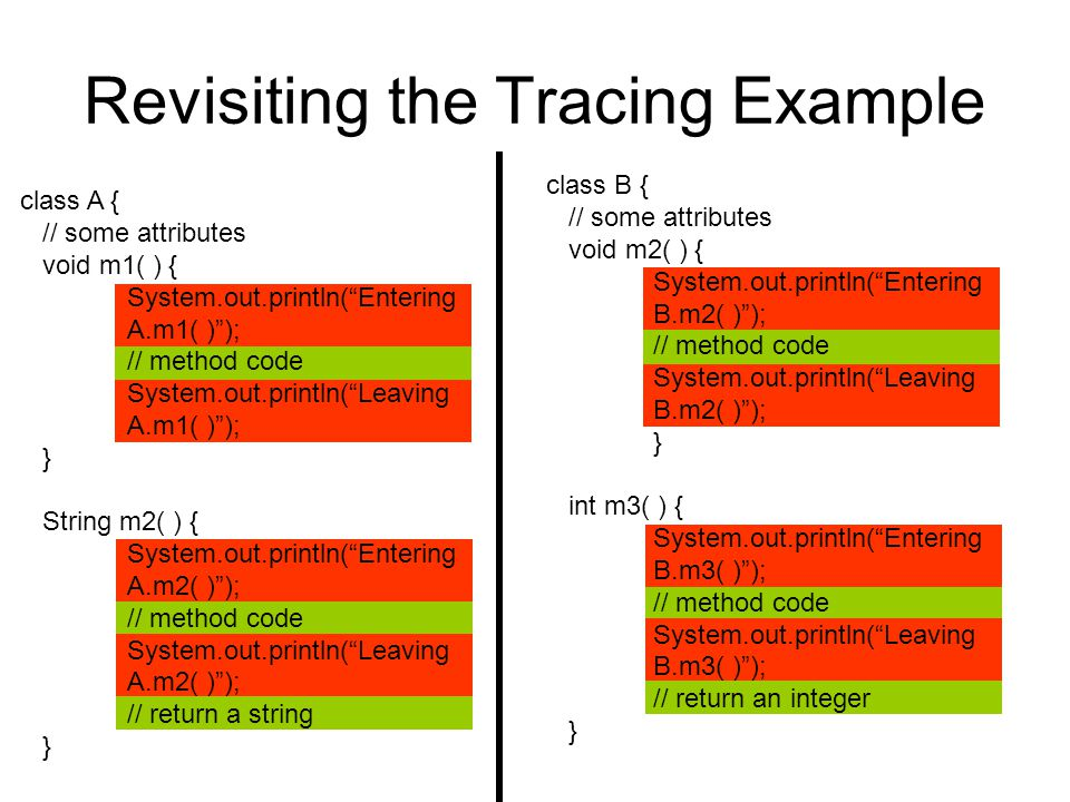 Revisiting the Tracing Example