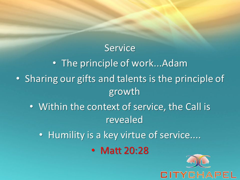 The principle of work...Adam