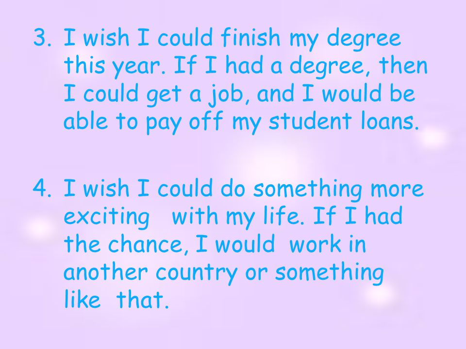 I wish I could finish my degree this year