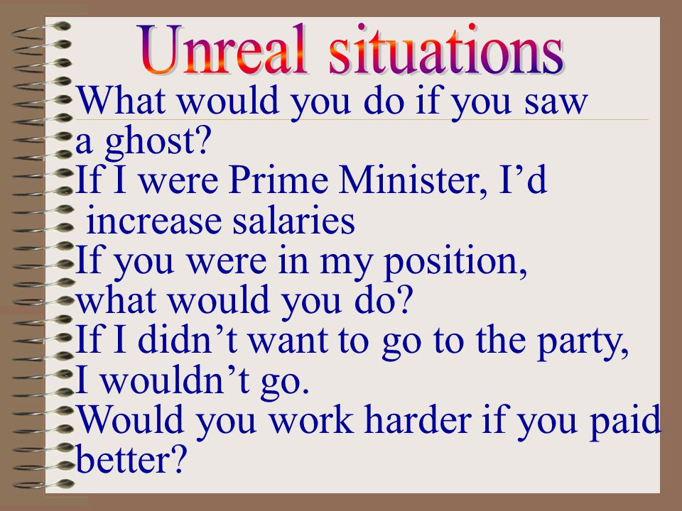 What would you do if you saw a ghost If I were Prime Minister, I'd