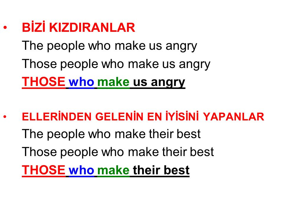 The people who make us angry Those people who make us angry