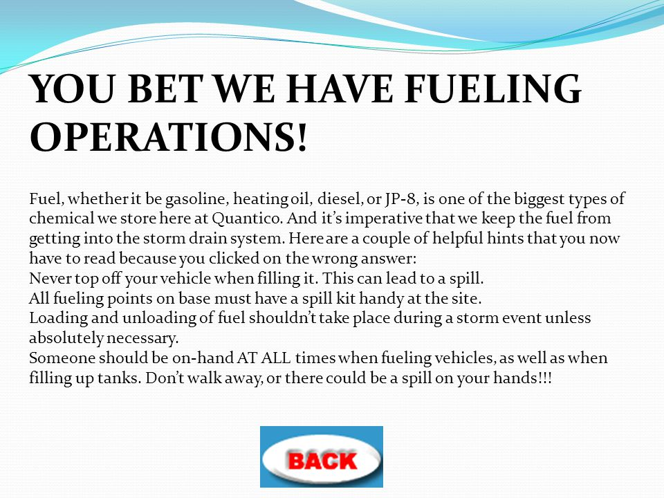 YOU BET WE HAVE FUELING OPERATIONS!