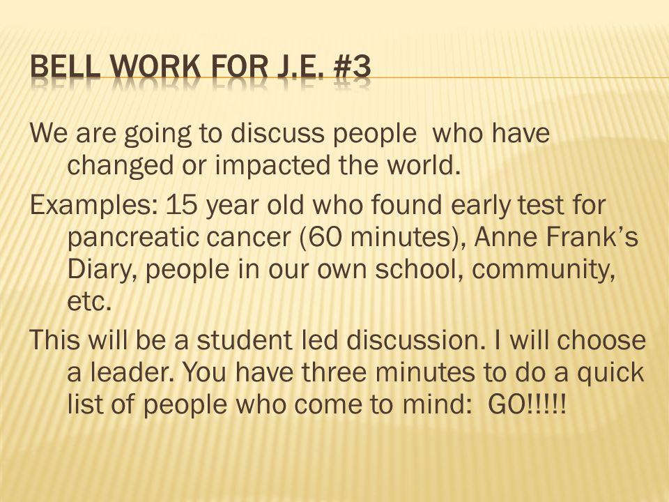 Bell work for J.E. #3