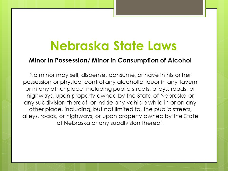 Minor in Possession/ Minor in Consumption of Alcohol
