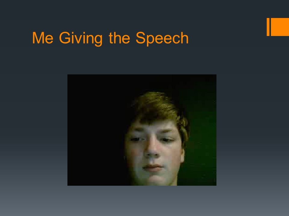 Me Giving the Speech