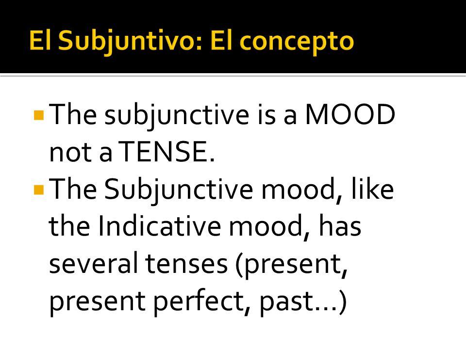 El Subjuntivo: El concepto
