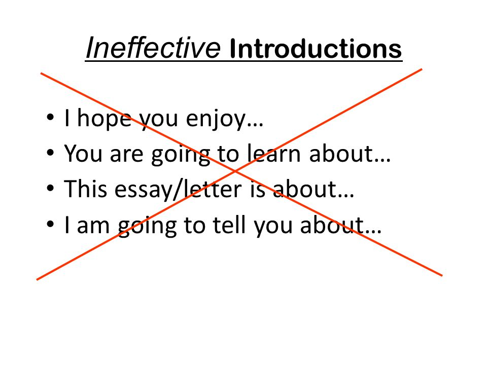Ineffective Introductions