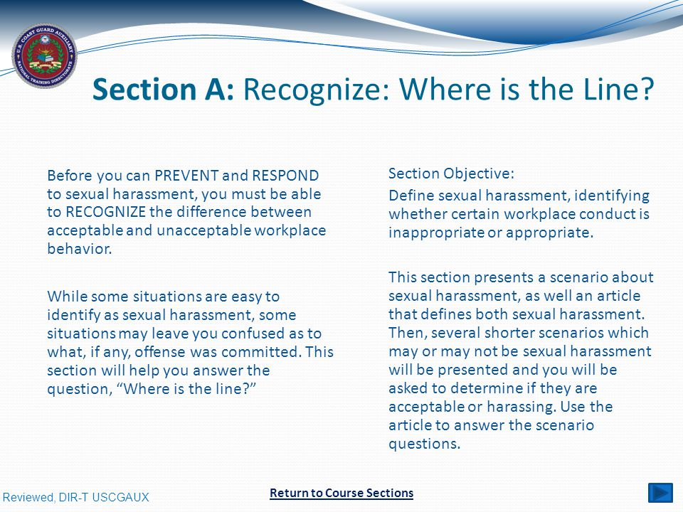 Section A: Recognize: Where is the Line