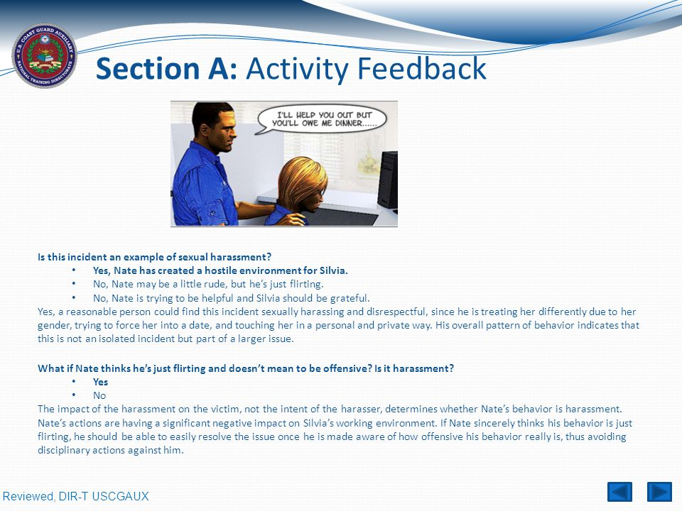Section A: Activity Feedback