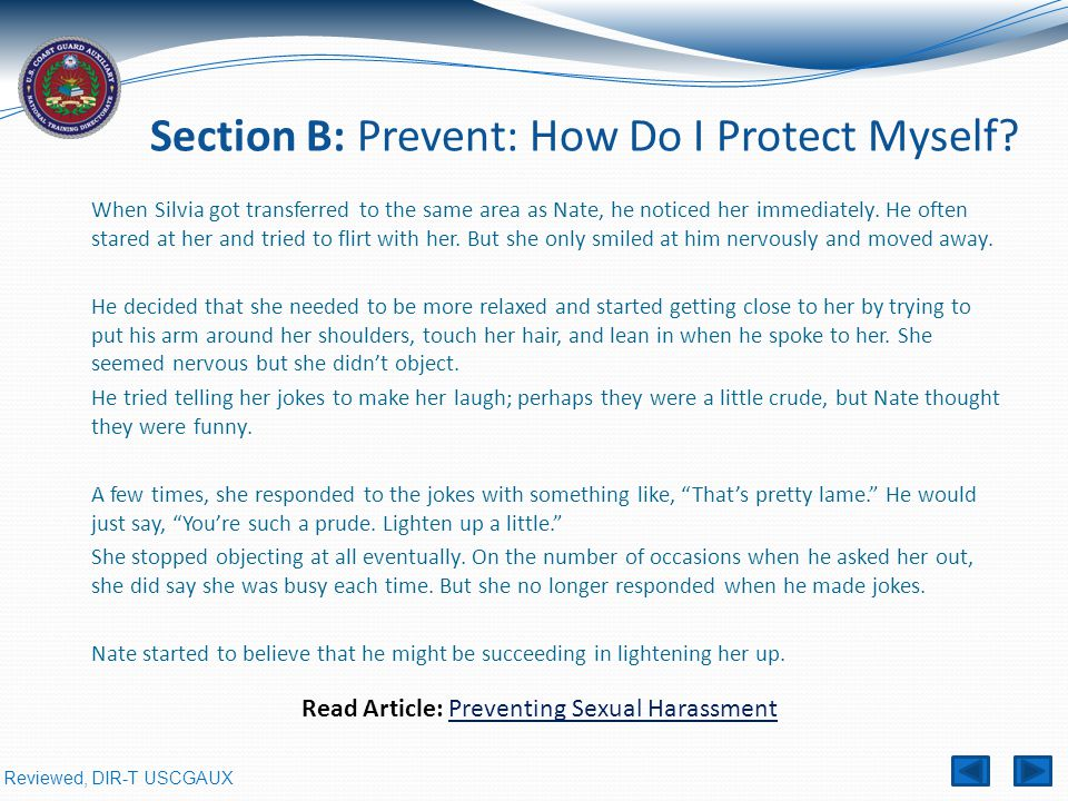 Section B: Prevent: How Do I Protect Myself