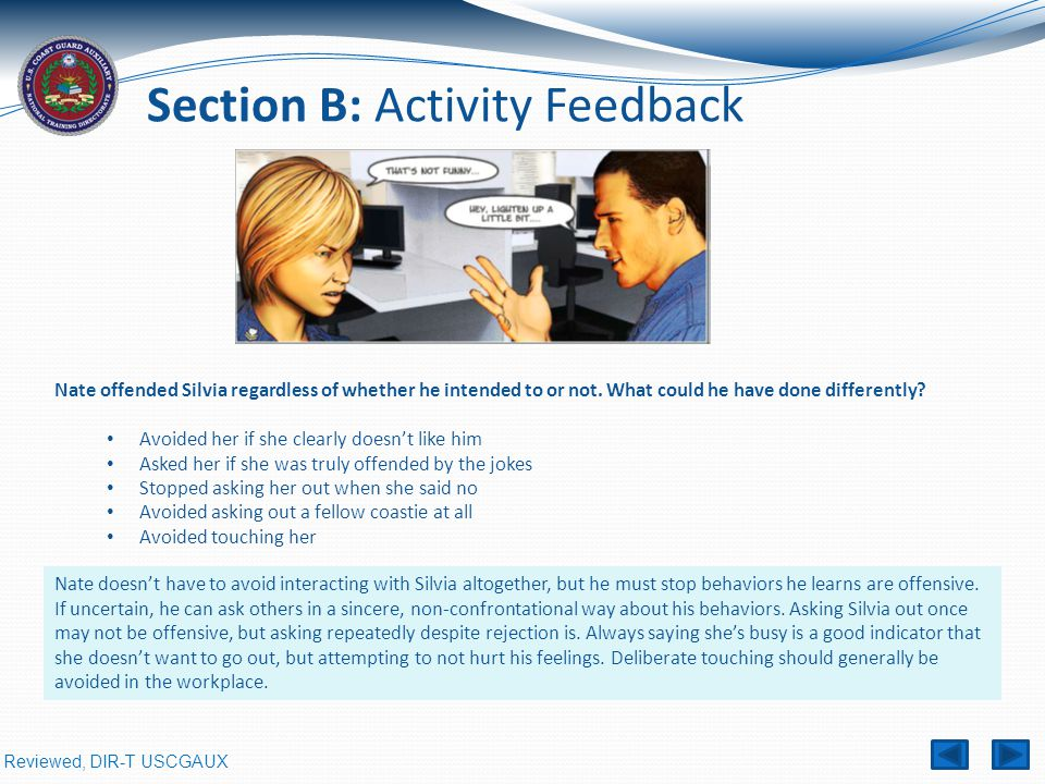 Section B: Activity Feedback