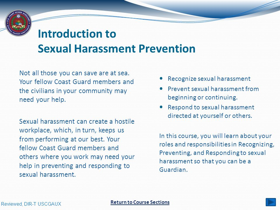 Introduction to Sexual Harassment Prevention