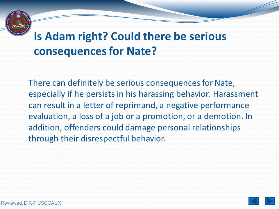 Is Adam right Could there be serious consequences for Nate