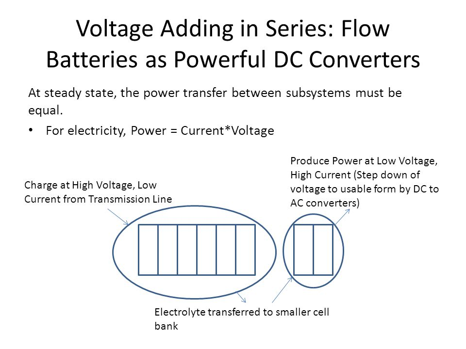 Voltage Adding in Series: Flow Batteries as Powerful DC Converters