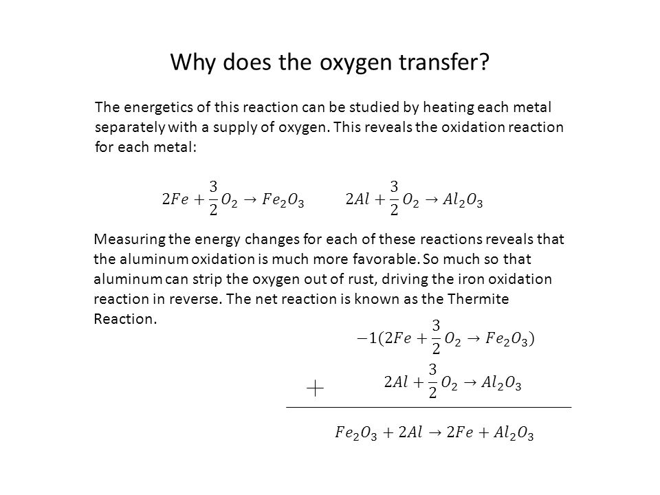 Why does the oxygen transfer