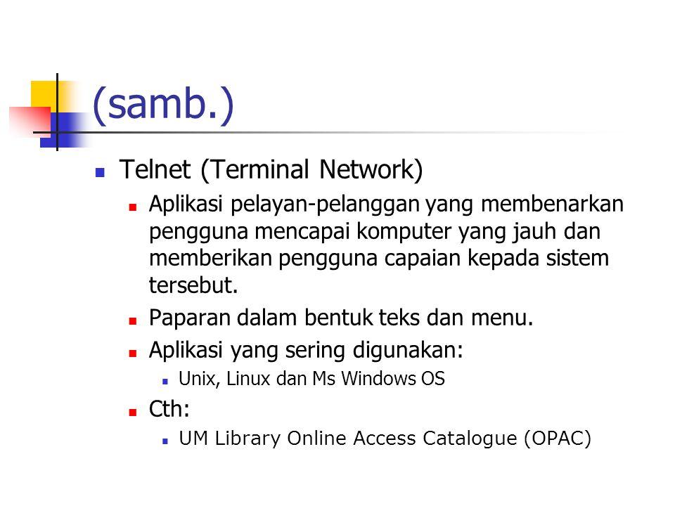 (samb.) Telnet (Terminal Network)