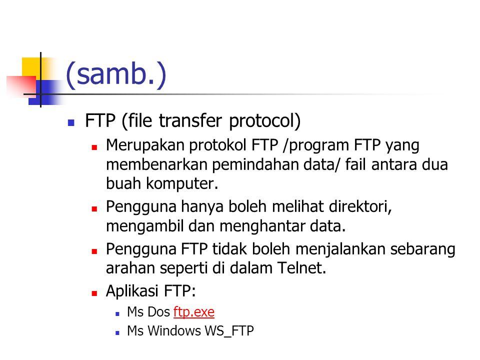 (samb.) FTP (file transfer protocol)