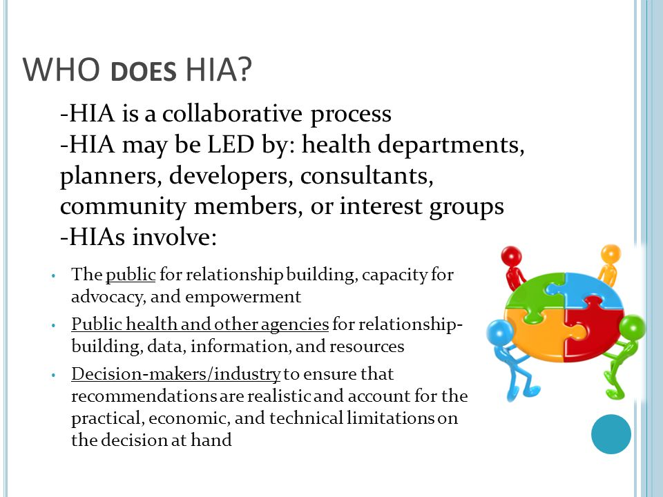 -HIA is a collaborative process